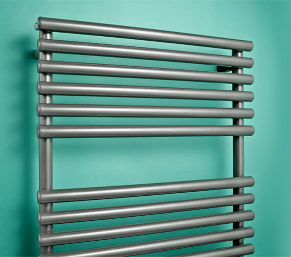 Additional image of Bisque Straight Fronted Towel Radiator