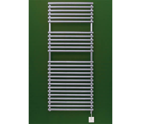 Alternate image of Bisque Straight Fronted Towel Radiator