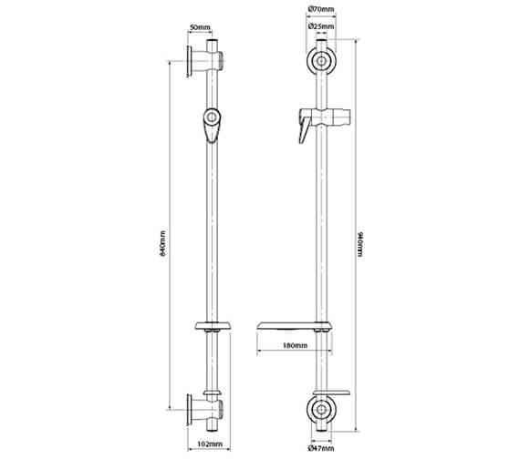 Technical drawing QS-V100354 / TSKINCGRBWC