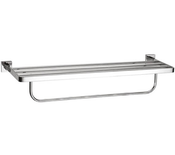 Crosswater Zeya 600mm 2 Tier Towel Rail Chrome - ZE026C+