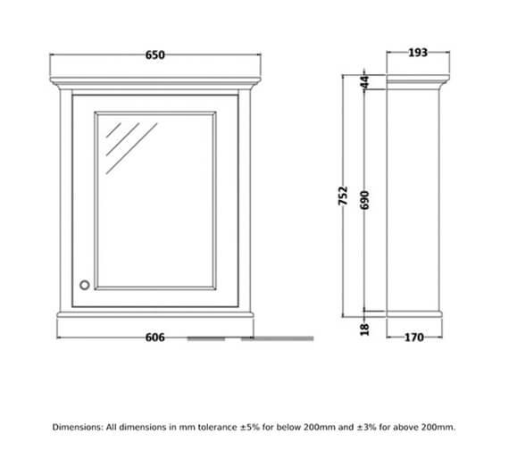 Technical drawing QS-V103052 / RAKWMC60503