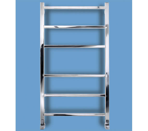 Bisque Gio 530mm Wide Stainless Steel Mirror Finish Towel Radiator