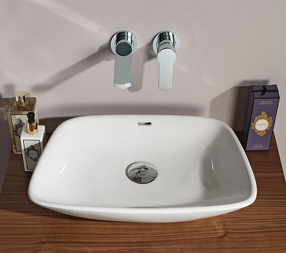 Crosswater Bauhaus Anabel Elegant Countertop Basin With Overflow - 500 x 360mm