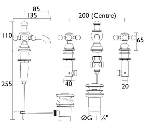 Technical drawing QS-V53314 / THRC06