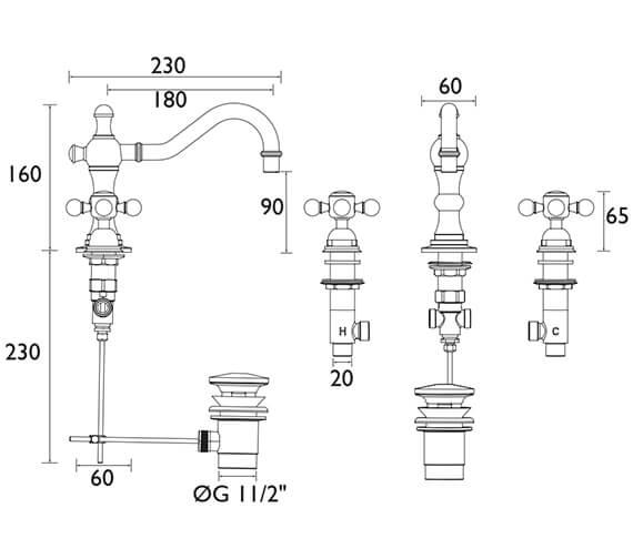Technical drawing QS-V53316 / THRC09