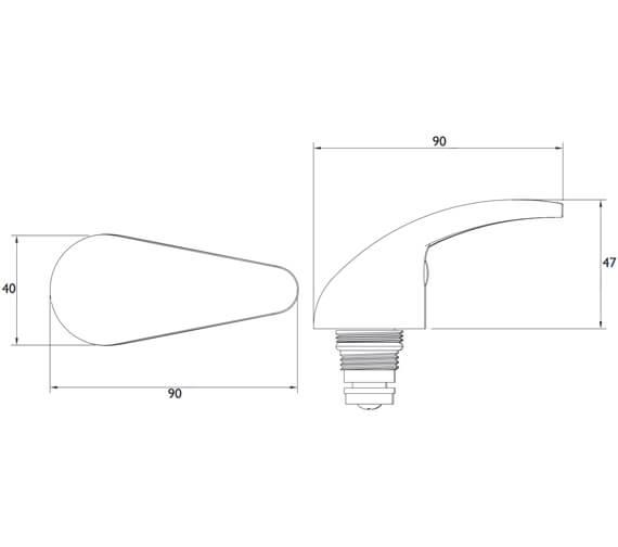 Technical drawing QS-V77410 / R 1/2 SL