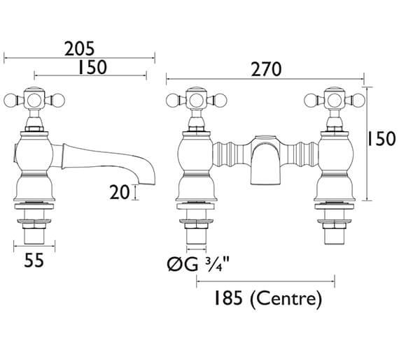Technical drawing QS-V53322 / THRC07