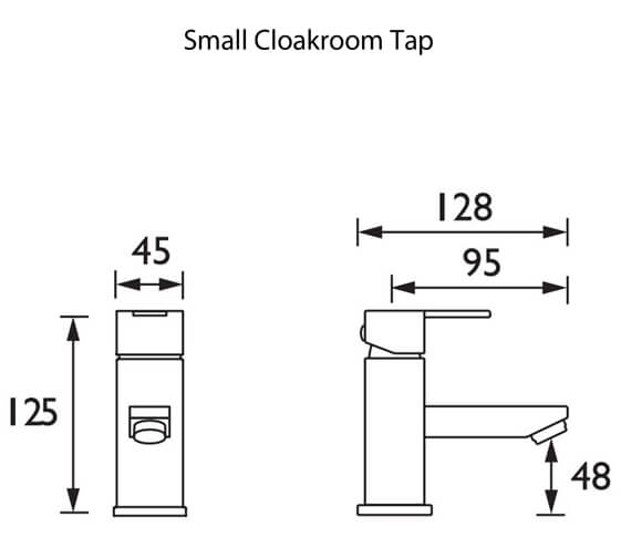 Additional image of Bristan Quadrato Deck Mounted Basin Mixer Tap