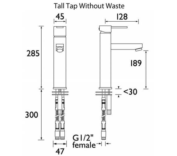 Alternate image of Bristan Quadrato Deck Mounted Basin Mixer Tap