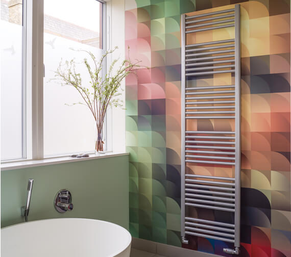 Additional image of Bisque Deline Towel Radiator