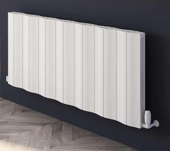 Alternate image of Reina Wave 600mm High Double Horizontal Aluminium Radiator