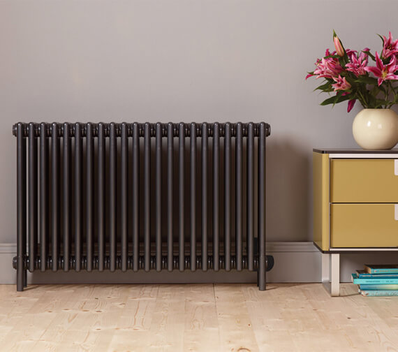 Bisque Classic 4 Column Deep With Feet Electric Radiator