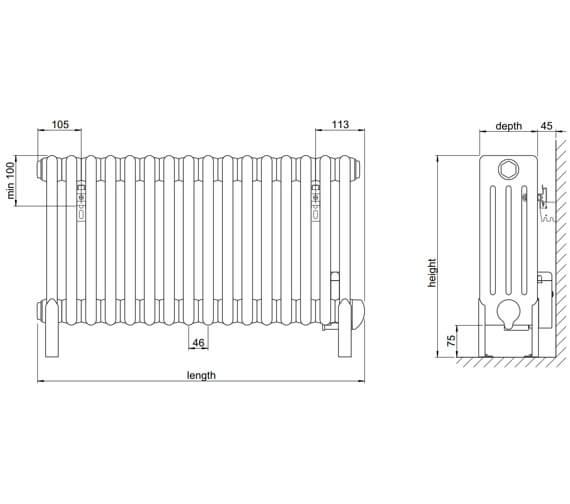 Technical drawing QS-V102767 / 4FE-60-41/GF-9010