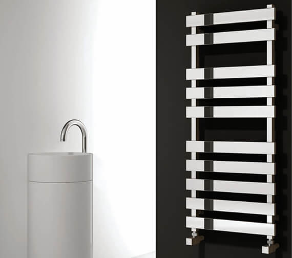 Reina Kreon 500mm Wide Polished Stainless Steel Designer Radiator