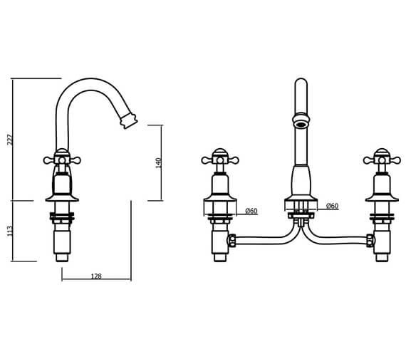 Technical drawing QS-V41874 / BL135DPC