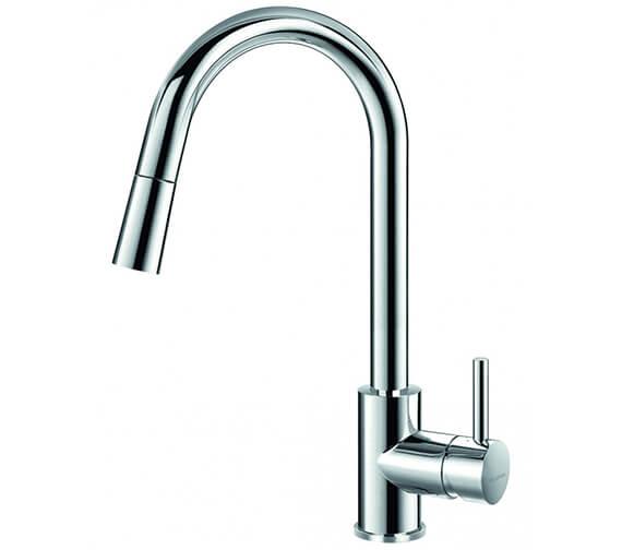 Flova Levo Pull Down Spray Single Lever Kitchen Sink Mixer Tap