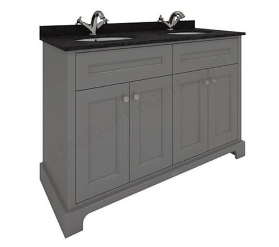 RAK Washington 1200mm Wide 4 Door Double Basin Floor Standing Vanity Unit