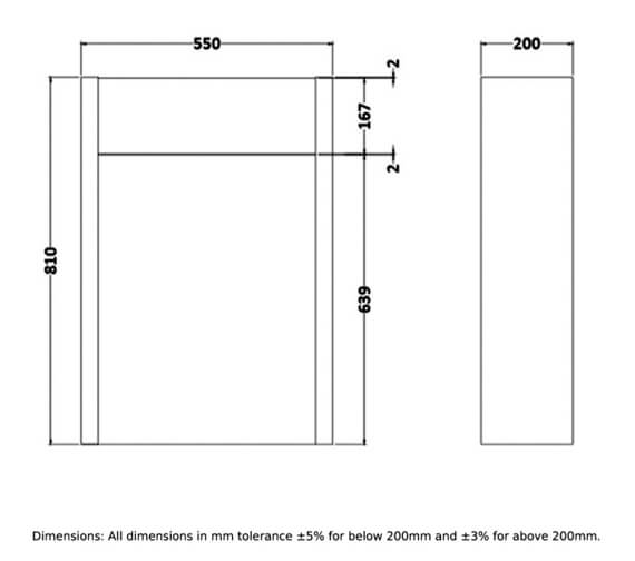 Technical drawing QS-V103070 / RAKWWC55503