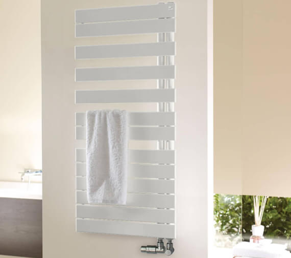Zehnder Roda Spa Asymmetrical 550mm Wide Towel Rail