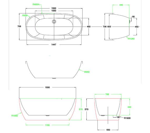 Technical drawing QS-V100785 / PB1017A