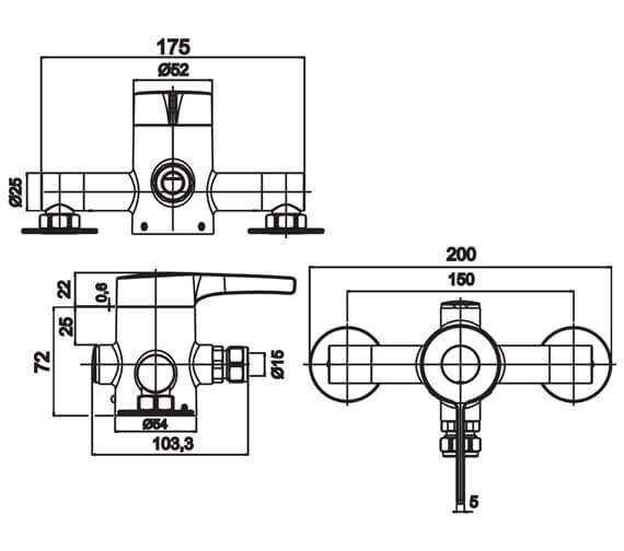 Technical drawing QS-V10861 / SSV