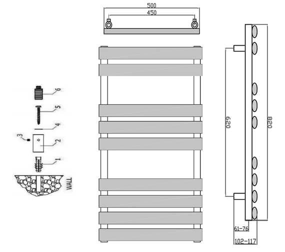 Technical drawing QS-V95292 / RND-ARB082W