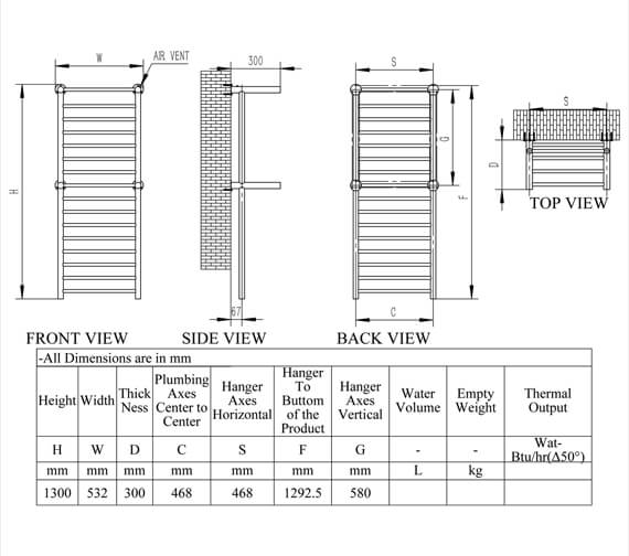 Technical drawing QS-V95318 / RNS-ADE130P