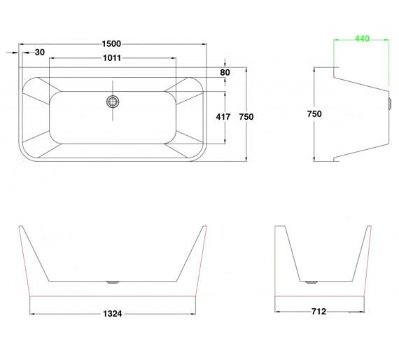 Technical drawing QS-V100784 / PB1016A