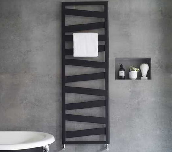 Additional image of Zehnder Ribbon 500mm Wide Towel Radiator