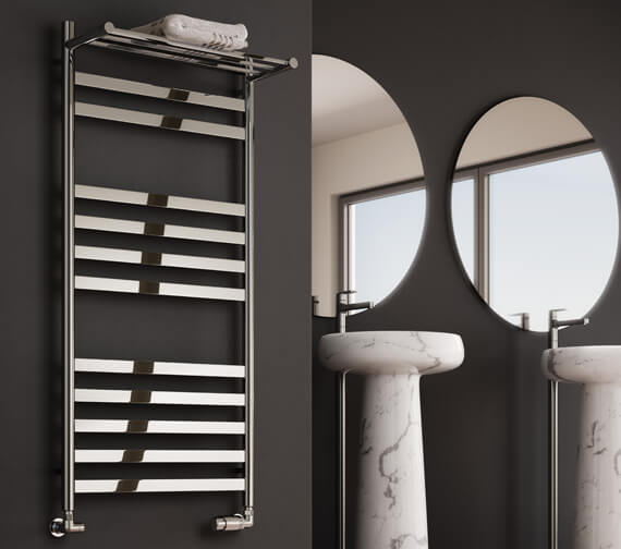 Reina Alento 530mm Wide Polished Stainless Steel Radiator