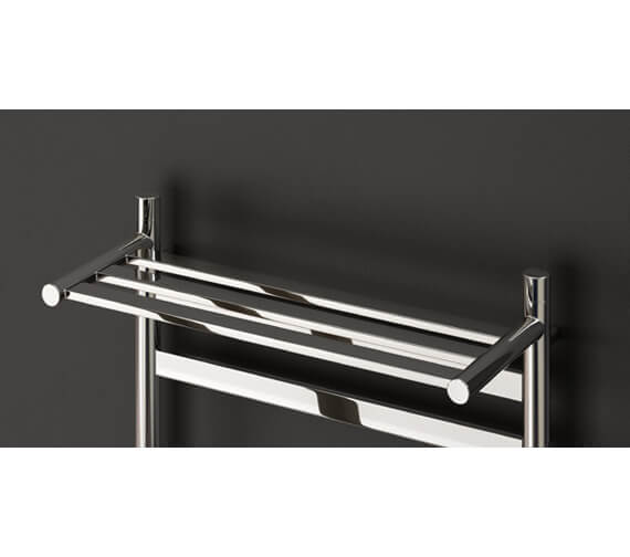 Additional image of Reina Alento 530mm Wide Polished Stainless Steel Radiator