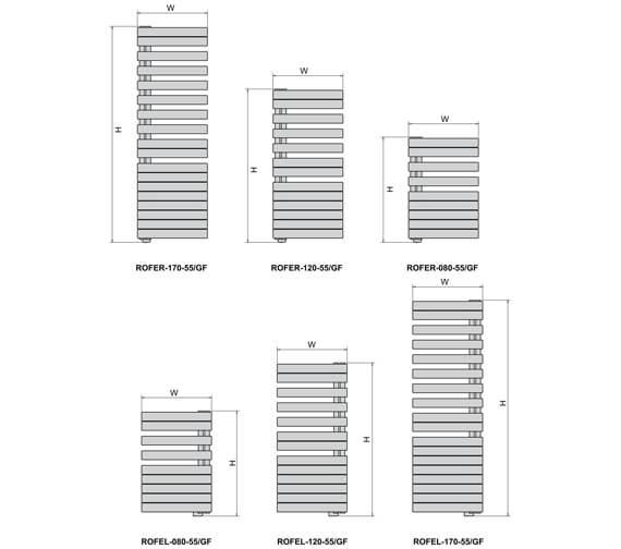 Technical drawing QS-V102693 / ROFEL-080-55/GF
