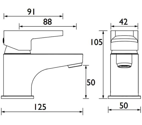 Technical drawing QS-V53023 / QST BASNW C