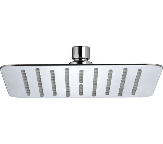 Bristan Square Stainless Steel Slimline Fixed Shower Head