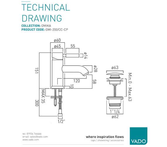 Technical drawing QS-V99454 / OMI-200/SB-C/P
