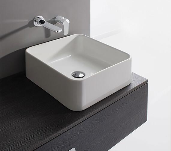 Bauhaus Bold Deep Countertop Basin Without Overflow - 400mm