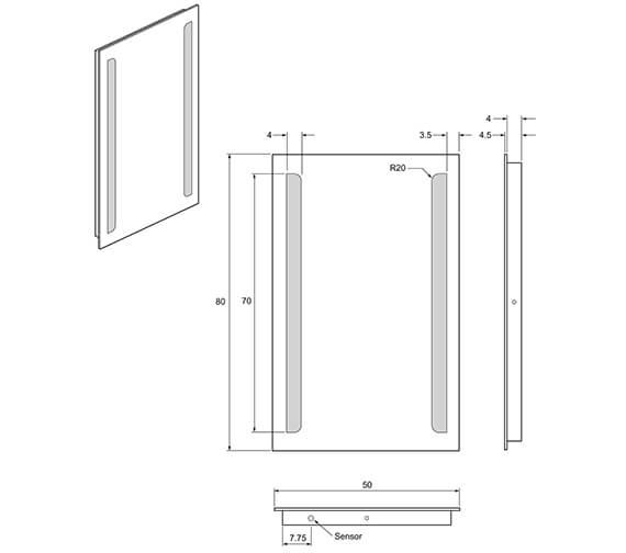 Technical drawing QS-V49015 / ME8050B