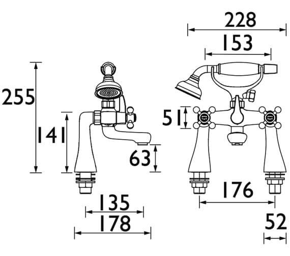 Technical drawing QS-V53094 / R TBSM C