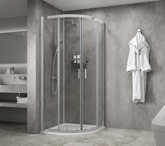 Aqualux Origin 8 900 x 900mm Quadrant Shower Enclosure