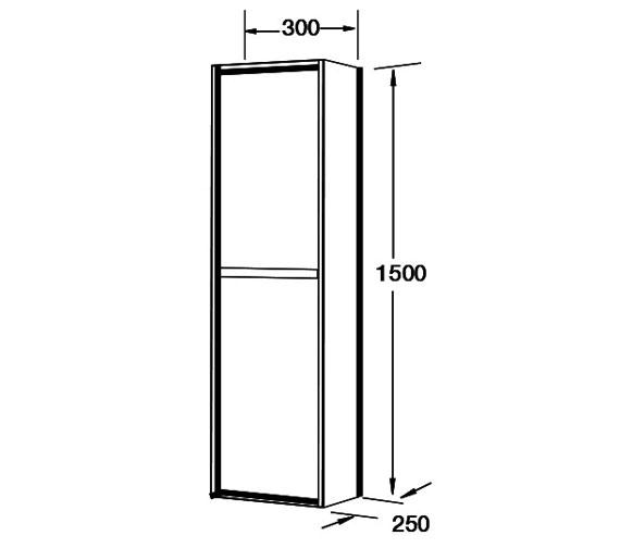 Technical drawing QS-V100788 / FHT10156-1500WG