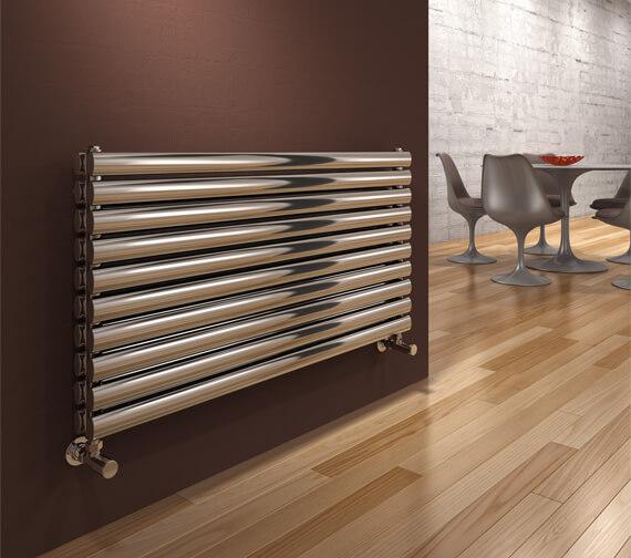 Additional image of Reina Artena 590mm High Double Panel Stainless Steel Radiator