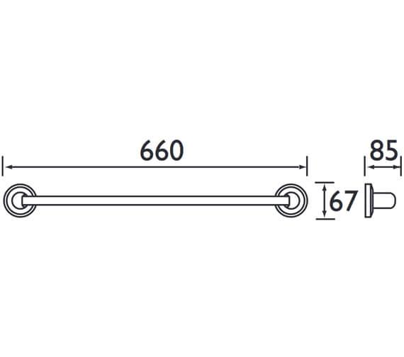 Technical drawing QS-V61613 / SO RAIL C