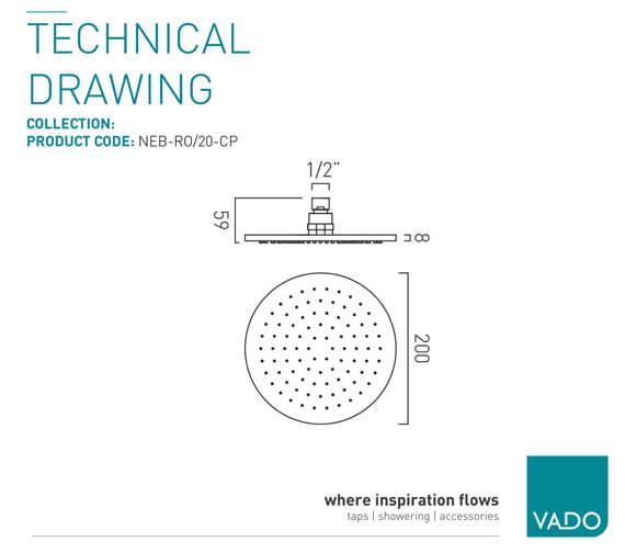 Technical drawing QS-V99465 / NEB-RO/20-C/P