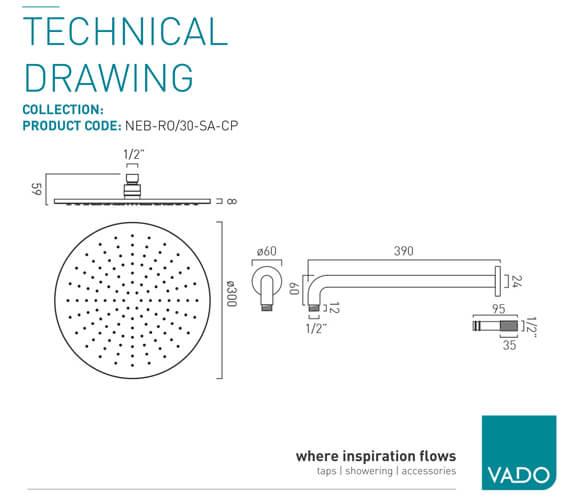 Technical drawing QS-V99464 / NEB-RO/20-SA-C/P