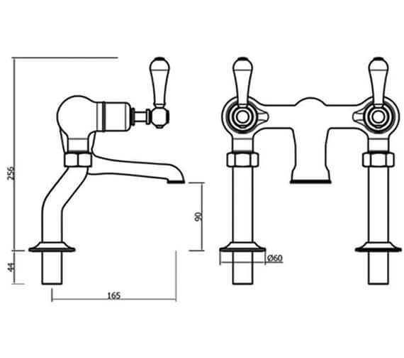 Additional image of Crosswater Belgravia Bath Filler Tap With Legs