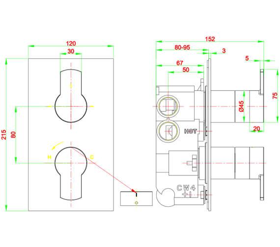 Technical drawing QS-V21902 / WP1500RC