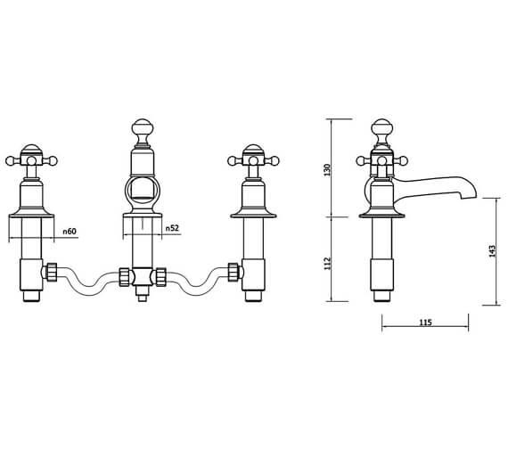 Technical drawing QS-V41876 / BL130DPC