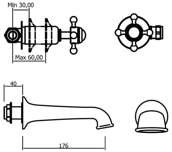 Technical drawing QS-V41859 / BL0370WC