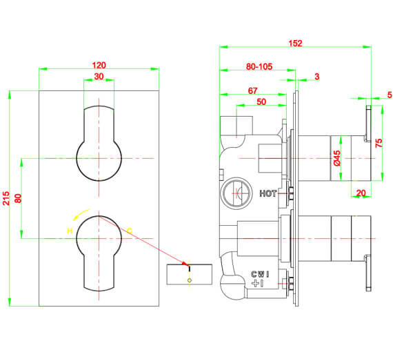 Technical drawing QS-V21897 / WP1000RC