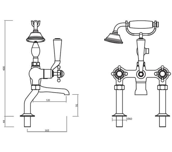 Technical drawing QS-V41866 / BL422DC
